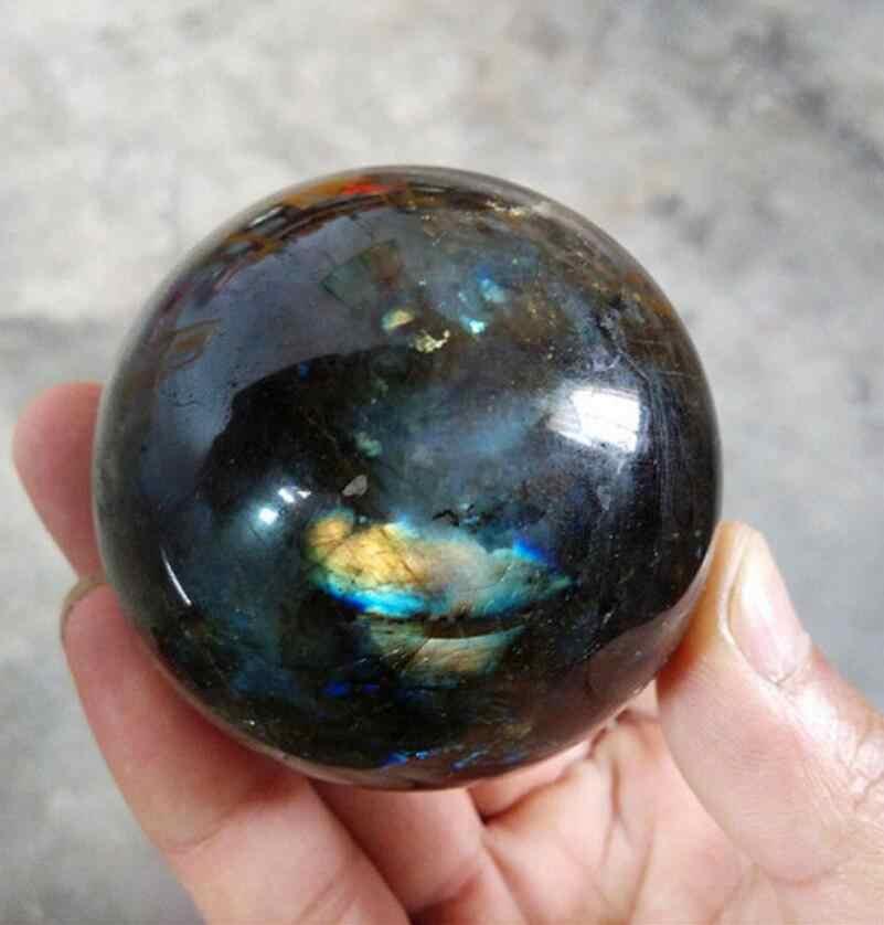 טבעי ברדוריט קוורץ קריסטל כדור כדור מדגסקר