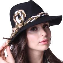 Free Shipping Women Winter Hats Felt  Hats Wide Brim Floopy Black Natural 100% Wool With Shawl Set Women Scarf