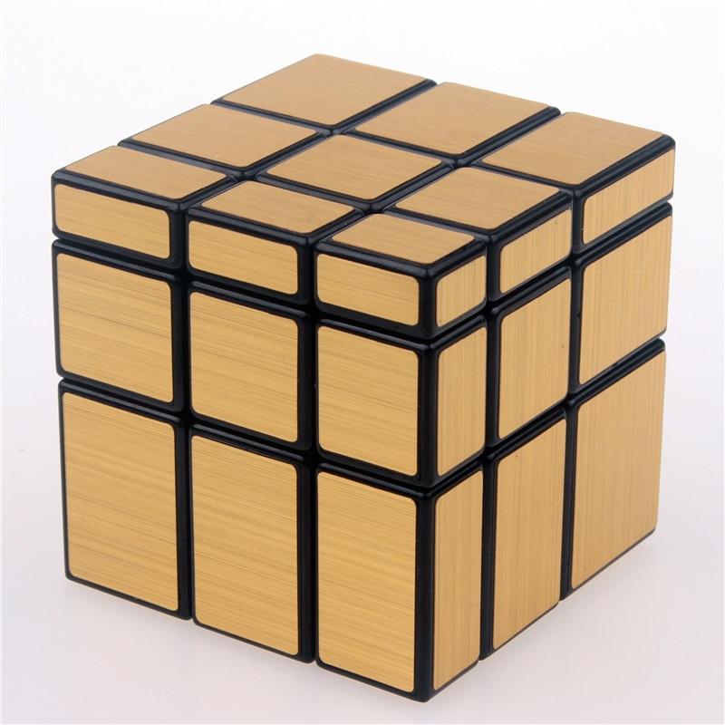 Orijinal sehrli sürətli güzgü küpü etiket bloku Puzzle Cast Coated Cubo Magico uşaqlar üçün professional öyrənmə təhsil oyuncaqları