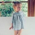 Kamimi niña vestido de Otoño Estampado floral para 2-6 Años bebés y Niños de Tres Cuartos de Vestidos de Niña de niño Niño Estilo Marinero ropa