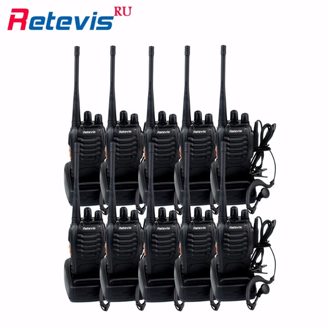10pcs Cheap Walkie Talkie Radio Retevis H777 3W 16CH UHF 400-470MHz Flashlight CTCSS/DCS Walkie-Talkie Communication Equipment