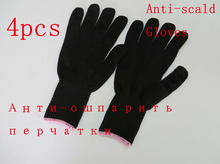 Free Shipping black barber heat resistant protective glove for hair straightener curling iron styling accessories 4pieces/lot