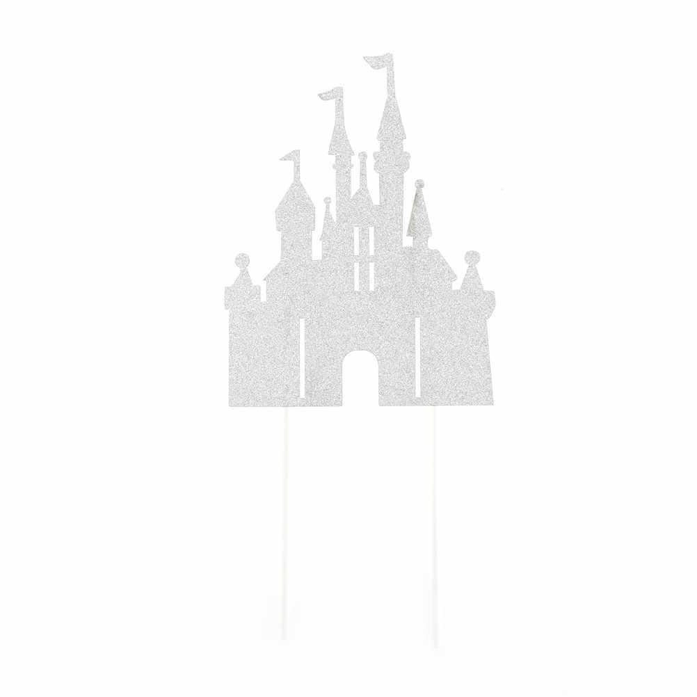 2018 château créatif joyeux anniversaire décoration maison dîner cuisson Cupcake gâteau figurine pour gâteau drapeaux événement Pary fournitures