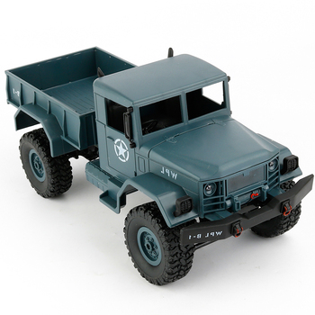 2.4G 4WD Crawler RC Car With Light RTR Metal Suspension Beam Bright LED Toy Gift For Boy DIY WPL B-1 1:16 RC Military Truck