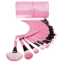 24/32pcs Makeup Brushes Set Professional Cosmetic Powder Brush Kit with Leather Bag Face Lip Eyes Makeup Tools Pincel Maquiagem 120 vivid charming colors eyeshadow with gold leather clutch bag shaped case professional makeup kit cosmetic set