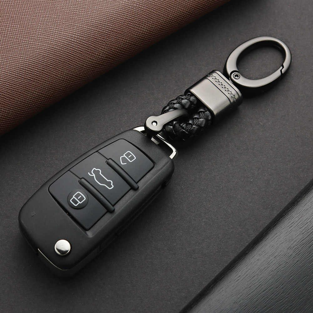 Deri Halat Anahtarlık Araba El Dokuma At Nalı Toka anahtarlıklar Çift Otomatik Hediye Ayrılabilir Metal Lüks anahtar zincirleri K395