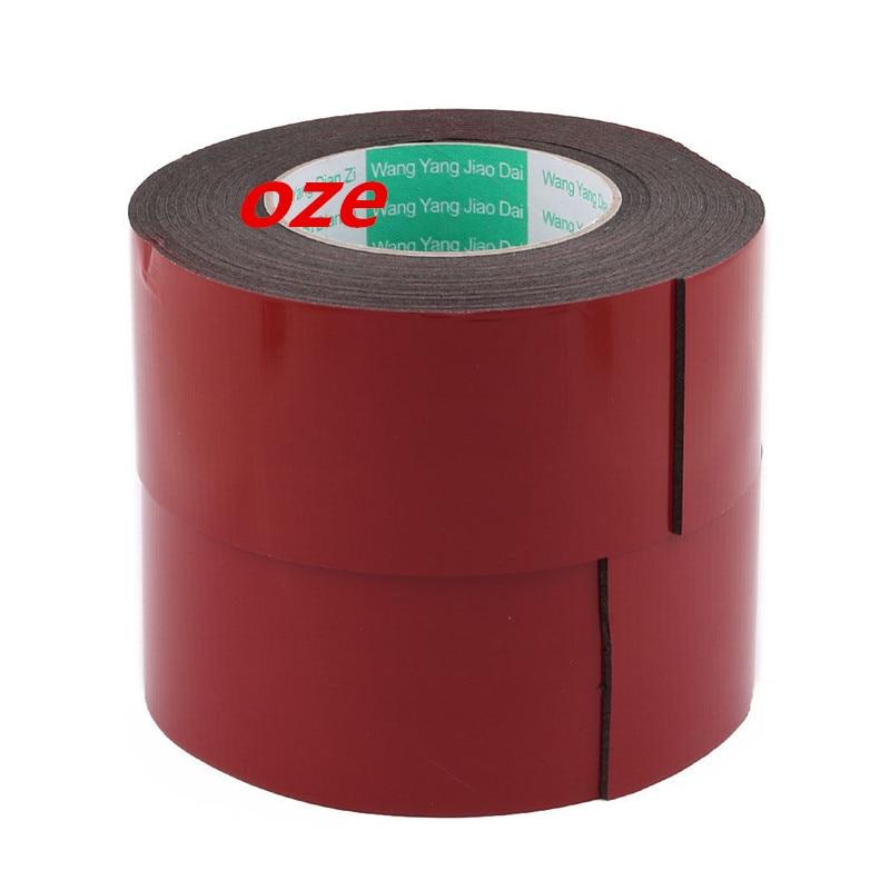 2Pcs 60x2mm Double Sided Sponge Tape Adhesive Sticker Foam Glue Strip Sealing 5M double sided foam adhesive tape black 5m