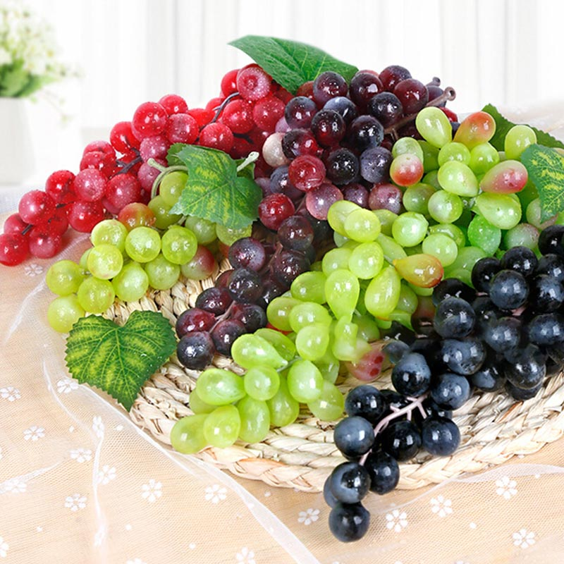 36 Grapes Bunches Artificial Fruit Grape Plastic Fake Fruit Lifelike Home Wedding Party Garden Decoration Mini Simulation Fruit