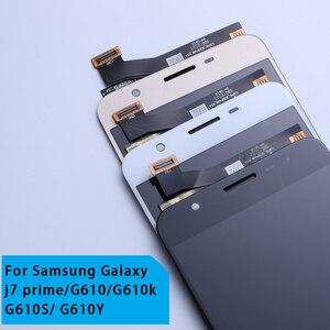 Image 2 - LCD Ersatz voll Digitizer Für Samsung Galaxy J7 Prime G610 G610F On7 2016 G6100 Display Touch Screen Doppel Löcher