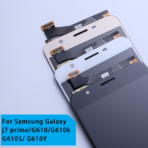 Image 2 - LCD Vervanging volledige Digitizer Voor Samsung Galaxy J7 Prime G610 G610F On7 2016 G6100 Display Touch Screen Montage Dubbele Gaten