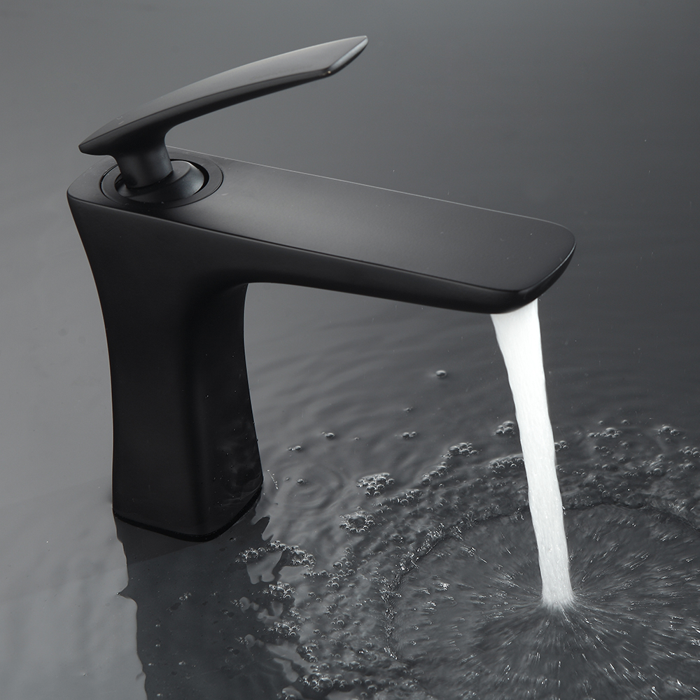Aliexpress.com : Buy Matte Black Faucet Hole Cold And Hot Water ...