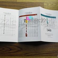 Пользовательские печати A3 листовки, флаеры, буклеты, раза брошюры(moq: 200 шт