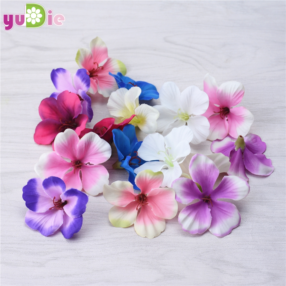 200pcs Spring Silk Gradient Orchid Artificial Flower For Wedding Home Decoration Orchis Mariage Flores Cymbidium Flowers Plants
