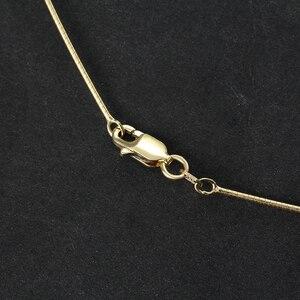Image 4 - سلسلة قلادة كلاسيكية عالية الجودة مصنوعة يدويًا من الفضة الإسترليني 925 على شكل زهرة اللوتس المرحة مجوهرات فاخرة للسيدات كولير Acessorios