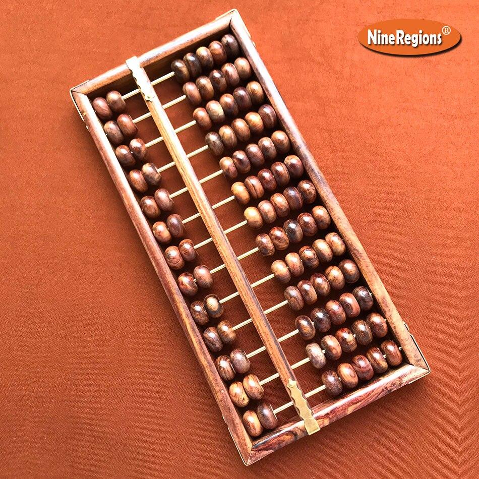 Qualité naturel sauvage chine HaiNan Huanghuali parfumé palissandre Abacus 13 colonne Soroban calculatrice décor à la maison