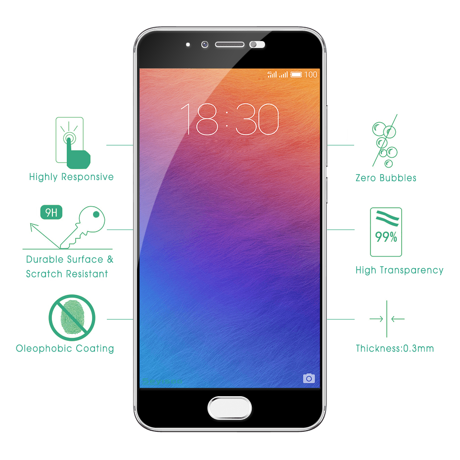 Seyisoo Brand Full Cover Tempered Glass For Meizu pro 6 (5)