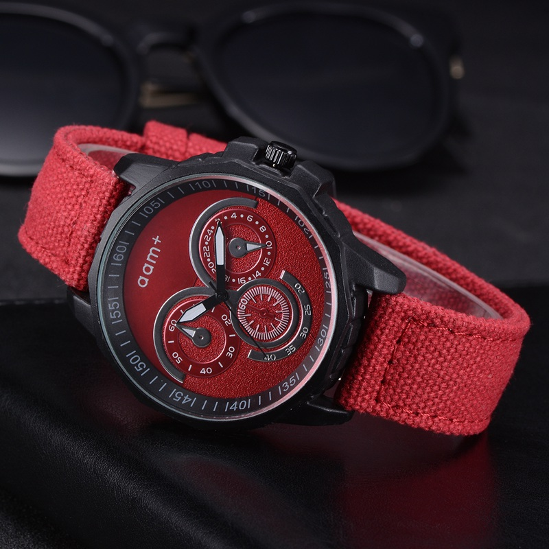 Men Brand Creative Style Men Watches Fashion Fabric Nylon Strap Quartz Wristwatch Men Elegant Student Sport Watches
