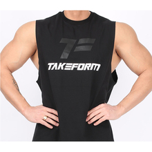 Brand gyms clothing fitness men O-neck vest mens bodybuilding top exercise sleeveless shirt