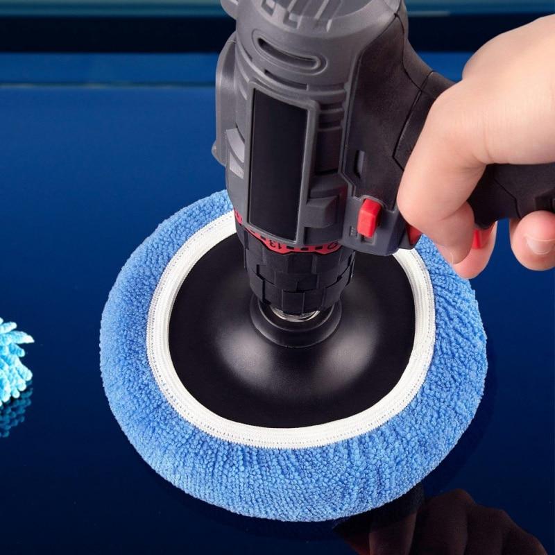 5pcs Microfiber Sponge Cover Auto Polishing Machine Waxing Polishing Buffer Bonnet Pad