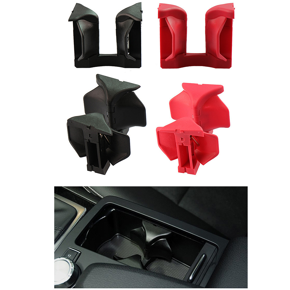 Car Drink Holder Car Center Console Water Cup Holder Insert Divider Board For Mercedes Benz C E GLK Class W204 W207 W212 X204 in Drinks Holders from Automobiles Motorcycles