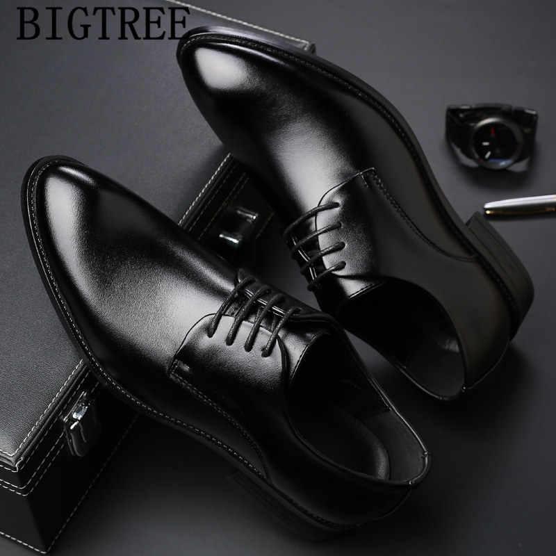 Zapatos oxford para hombre de marca de lujo zapatos formales hombres coiffeur zapatos de oficina italianos para hombre zapatos de cuero tenis masculino adulto