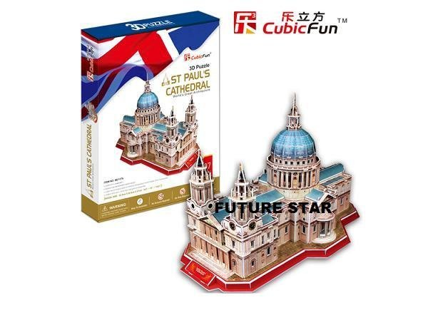 Freeshipping!ST Paul's Cathedral,CubicFun 3D Jigsaw Puzzle,3D paper model,DIY puzzle,Best Educational toys for Kids MC117h