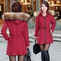 NXH Снег носить ватные куртки женские 2017 зимняя куртка женщины стройная Длинный Хлопок верхняя одежда зимнее пальто женщин плюс размер