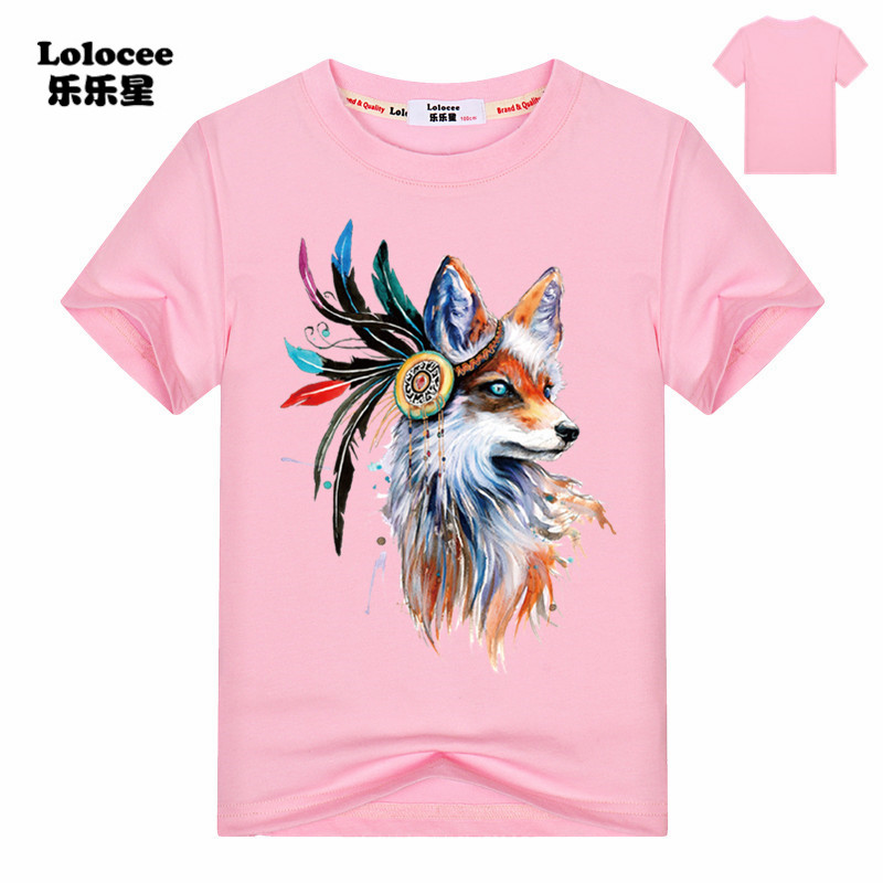 Fashion Harajuku 2018 Summer T-Shirt Girls Tops Short Sleeve Graphic Fox Print Casual Tshirt Punk Rock Tee Shirt Kids White TopFashion Harajuku 2018 Summer T-Shirt Girls Tops Short Sleeve Graphic Fox Print Casual Tshirt Punk Rock Tee Shirt Kids White Top
