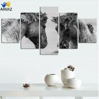 Gratis verzending zwart-wit film fijne paard animal prints op canvas schilderij effect siert keuken huishoudelijke kunstwerk FA156