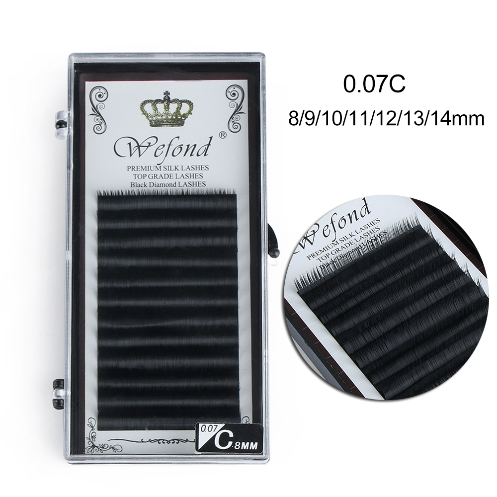 Beauty Essentials Brand New All Size 0.07 C Curl Faux Mink False Eyelashes High Quality Women Gift Individual Natural Fake Eye Lashes Extension 100% High Quality Materials