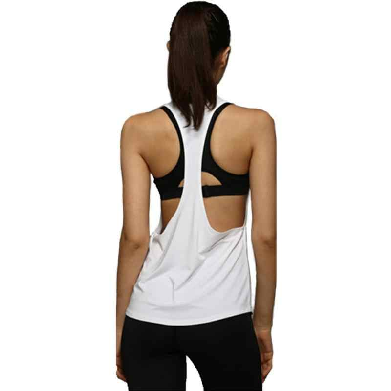 7553719f082 ... Plus Size Summer Sexy Fitness Clothes Women Tank Tops Loose Workout  Sleeveless Quick Dry Vest Singlet ...