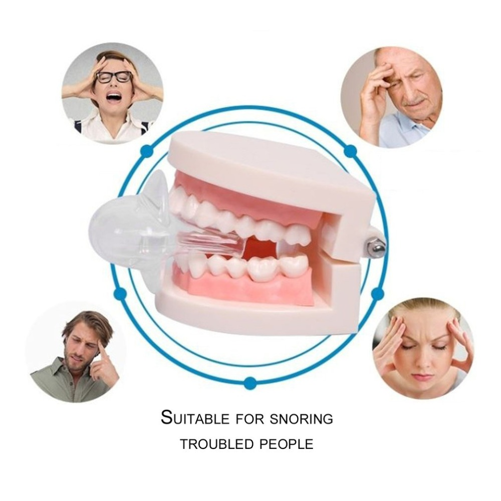 Anti Snoring And Sleep Aid Device Stop Snoring Device Snore Stopper Tongue Guard Sets Silicone Prevent Snoring Tooth Grinding