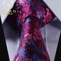 17 Estilo de La Marca de Moda Para Hombre Corbatas Paisley Floral Jacquard Cuello corbata Hanky Set Para Camisas de Los Hombres Wedding Party Negocios Corbata-10