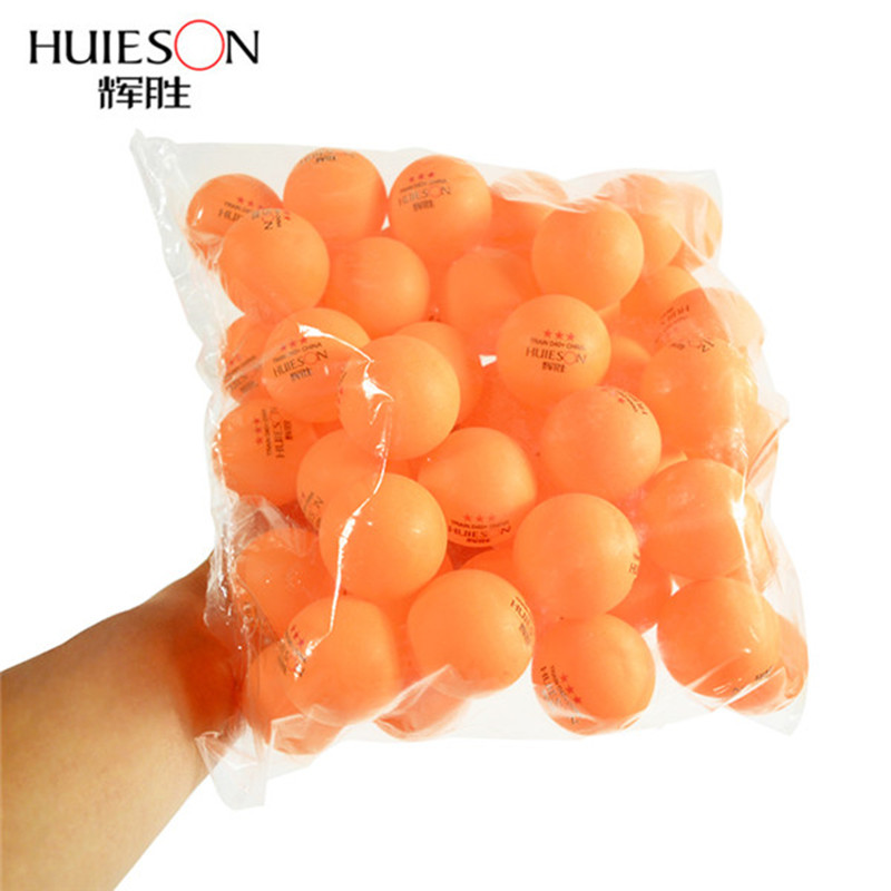 Huieson 100Pcs/Bag 3 Star ABS Plastic Table Tennis Balls 40MM+ 2.8g Ping Pong Balls For Adults Club Training