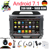 Android 7,1 автомобильный Радио dvd плеер gps навигация Авторадио Bluetooth Wifi USB AUX DAB для Kia Sportage R 2010 2014 2011 2013 2015