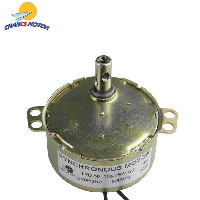 CHANCS-moteur synchrone à Rotation CCW TYD50, AC, 110V, 50/60Hz, couple 5-6r/min, 6Kg.cm, puissance 4W