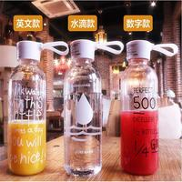 Navpeak 10pcs/lots New my bottle plastic water bottle transparent water bottle creative portable cover can be customized LOGO