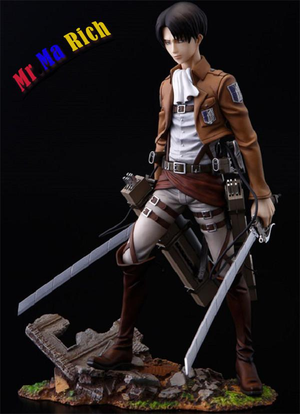 Japanese Anime Shingeki No Kyojin Attack On Titan Levi Rivaille 25cm Pvc Action Figure Brinquedos Kids Toys Anime Figure anime attack on titan mini messenger bag boys ataque on titan school bags mikasa ackerman eren shoulder bags kids crossbody bag