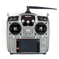 RadioLink AT10 II RC Transmitter 2.4G 10CH Remote Control System with R12DS Receiver for RC Racing Drone Helicopter