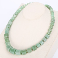 3A Natural Stone Aventurine jadee Necklace Women Vintage Diamond Power Crystal Choker Gem Statement Female Rubi Jewelry Balance