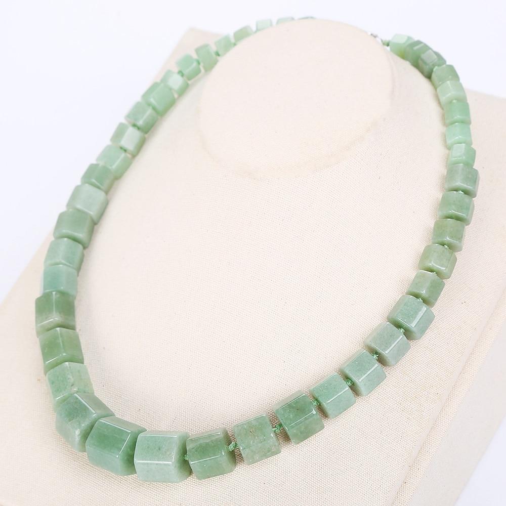 3A Natural Stone Aventurine jadee Necklace Women Vintage Diamond Power Crystal Choker Gem Statement Female Rubi Jewelry Balance