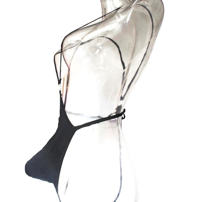 Men's Sexy Teddy Bodysuit Leotard Mesh Black Transparent Silk Fishnet Lingerie Erotic Underwear G-strings Foreplay