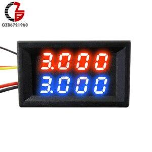 0.28/0.36/0.56 بوصة LED الرقمية الفولتميتر مقياس التيار الكهربائي سيارة موتوكيكلي الجهد الحالي متر كاشف الفولت اختبار لوحة مراقبة الأحمر