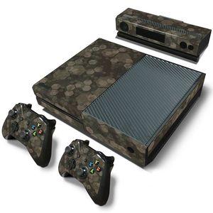 Image 3 - Camuflaje Game Cosole pegatinas de piel Calcomanía para Xbox One Console piel de vinilo + 2 uds pegatinas del controlador