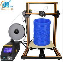 2017 последние 3D принтер Большие размеры 300 мм/400 мм/500 мм трехмерная Home Высокая точность Тихий 3d принтер