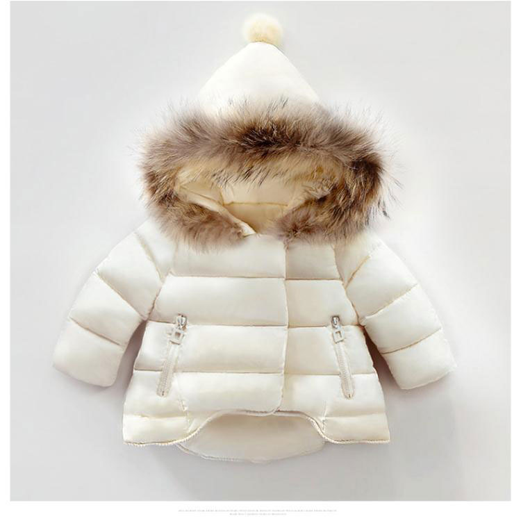 0e4bb2a22 winter infant coat baby down padded coat girls white duck down feather coat  girls and boy Milky white Thickening Outerwear