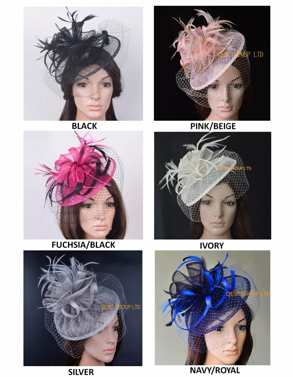 New arrival Sinamay veiling fascinator straw hat fedora with feathers and veiling for Kentucky Derby church