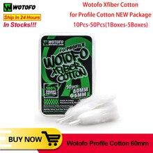 10 pcs/20 pcs/30 pcs Originale Wotofo Xfiber Cotone Per Il Profilo di Cotone asciutto bruciare i vaping maglia bobina cotone Per Il Profilo di RDA Vape Serbatoio