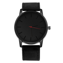 Minimalist Watch Men Leather Watchbands No Sign Clock Casual Time Fitness Golden Hour Male Clock Fashion Quartz Wristwatches casual men s watch fashion male quartz clock black business leather watchband water resistant man wrist watch precise time hour