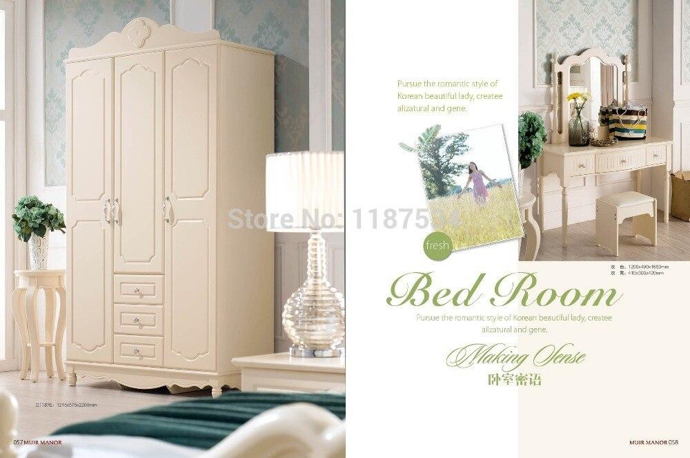 Grenen Slaapkamer Meubels : Moderne meubelen slaapkamer set bed kledingkast nachtkastje dressoir